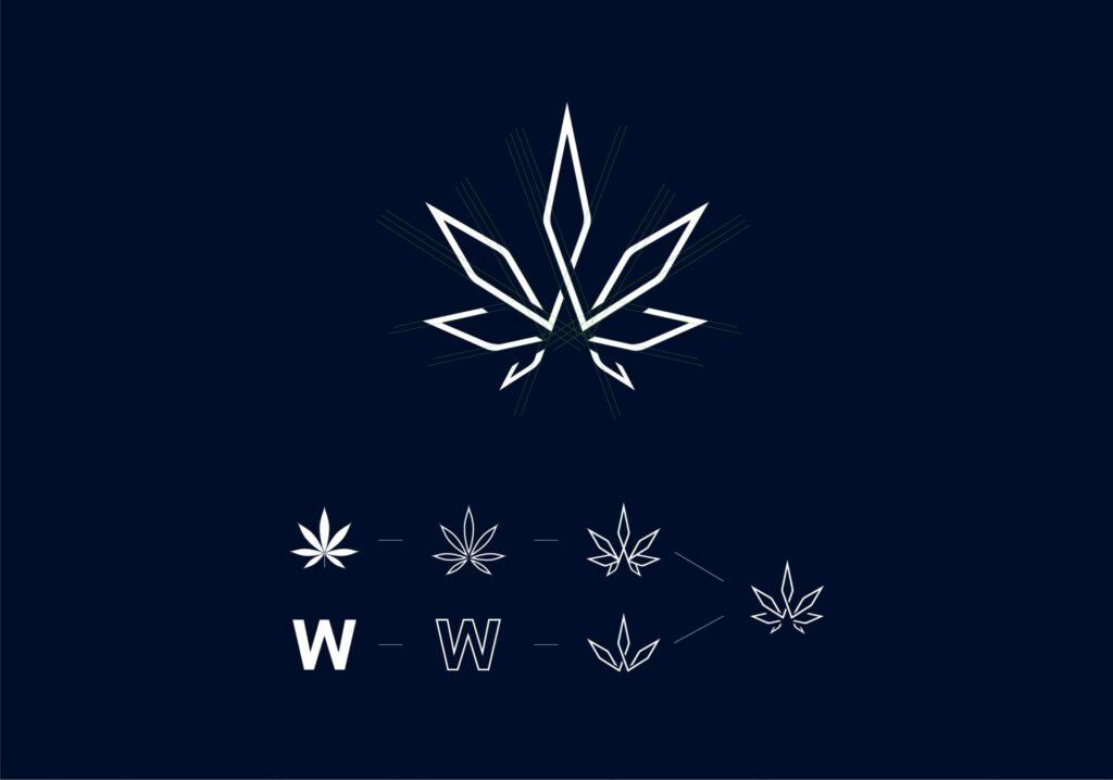 ロゴの製作図の画像
