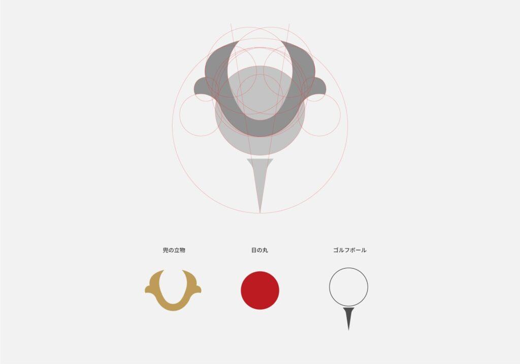 ロゴの設計図の画像